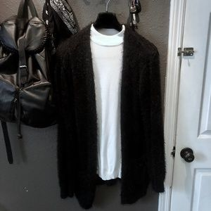 Vintage Fuzzy Open Front Cardigan